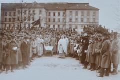 14 - Sfințirea steagurilor românești la Viena în anul 1918