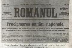 8 - Ziarul ROMÂNUL tipărit pentru data de 3 dec. 1918