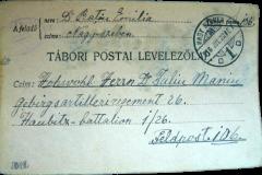3 - Carte poștală primită de Iuliu Maniu pe front 1